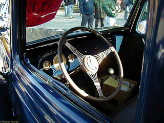 Interior of 1936 Ford pickup truck