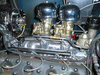 Dual carburetors with steel fuel line instead of copper