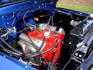 Power King 317 Y-block engine in 1955 Ford F-100. Photo courtesy of Howard Tarnoff.
