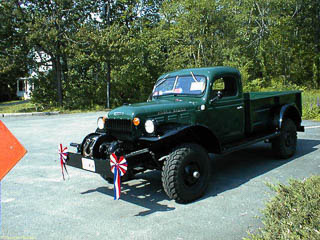 Green Dodge Power Wagon in parade dress
