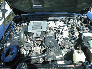 Turbocharged 4 cylinder engine in SVO Mustang